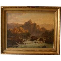 Romantic Landscape by F.C. Kiaerschou 1805-1891