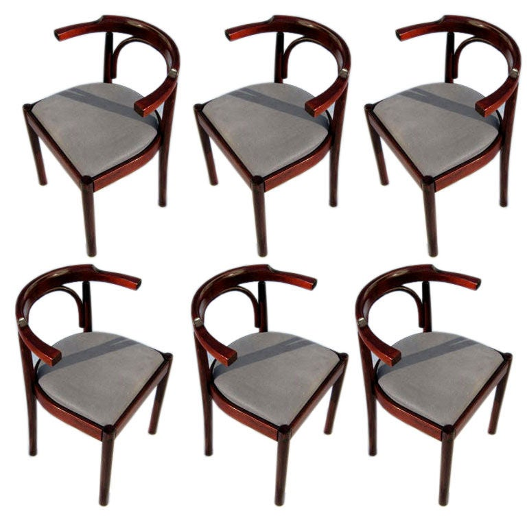 Set of Six Bentwood Dining Chairs at 1stdibs