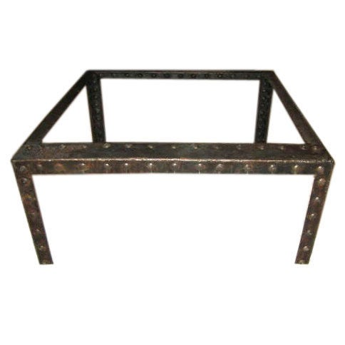 1940 39 S French Industrial Coffee Table At 1stdibs