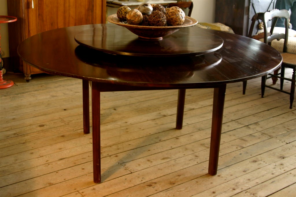 large round dining table with revolving center at 1stdibs