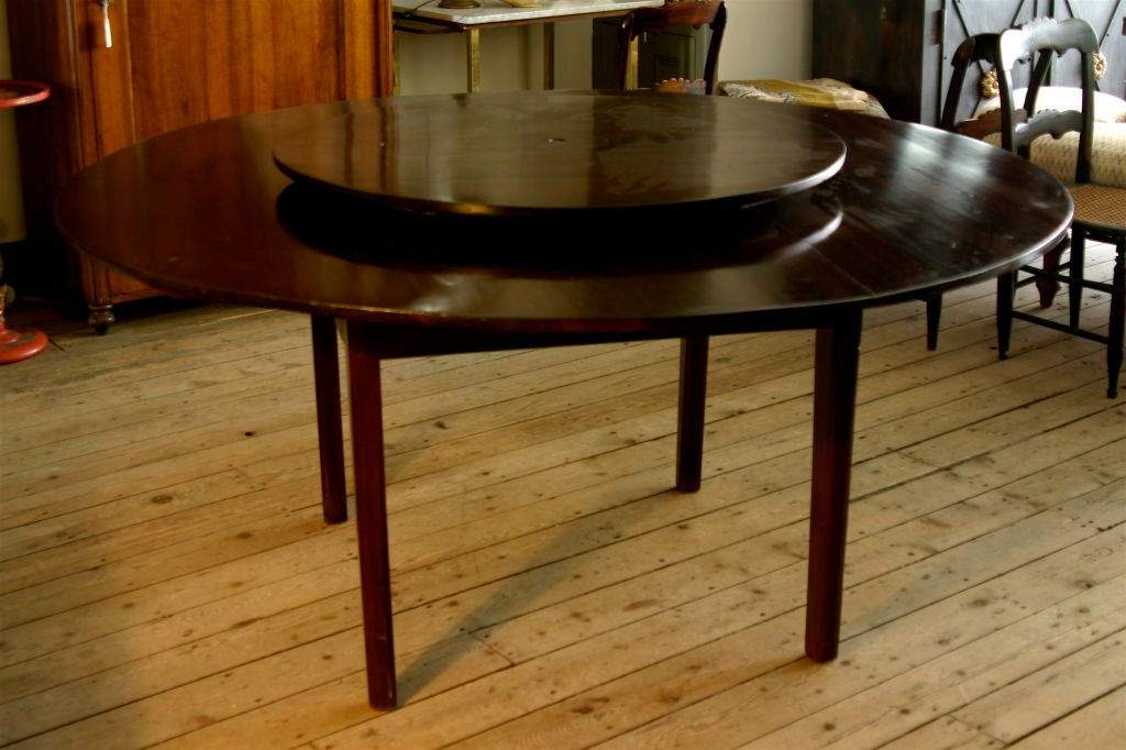 Large Round Dining Table With Revolving Center For 3