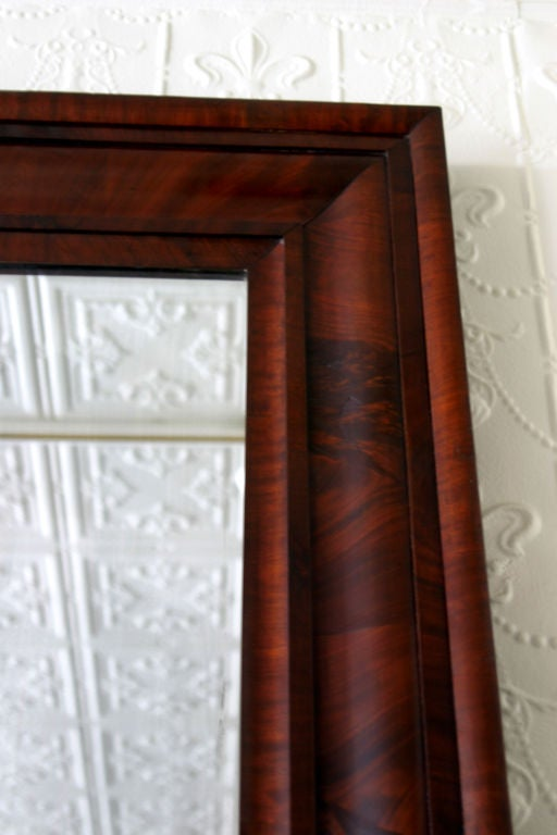 Mahogany Ogee Mirror For Sale