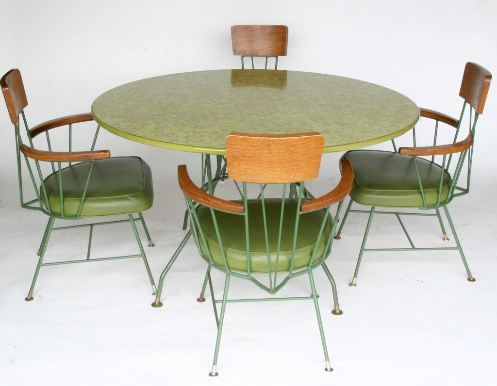 Steel Paul McCobb Style Dining Suite For Sale