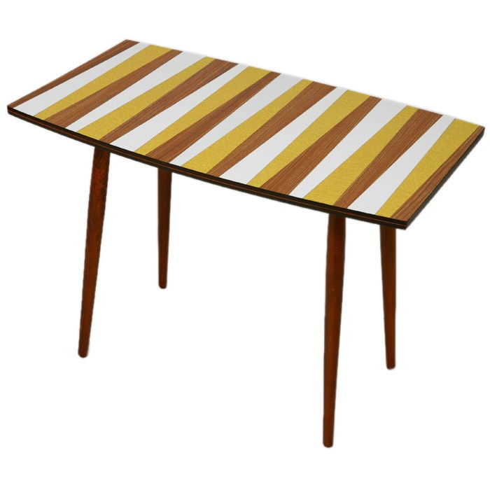 czech mid-century side table For Sale