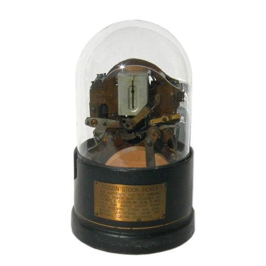 Original Edison Stock Ticker Tape Machine