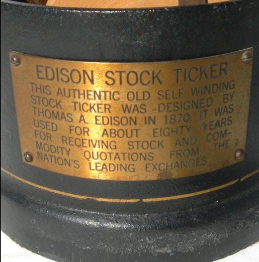 Original Edison Stock Ticker Tape Machine image 2