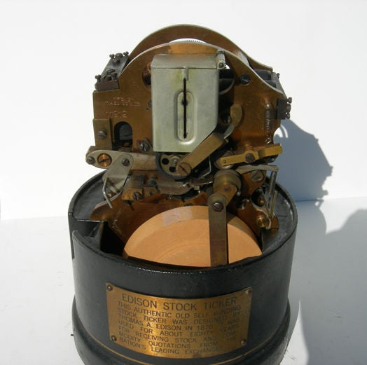 Original Edison Stock Ticker Tape Machine image 6