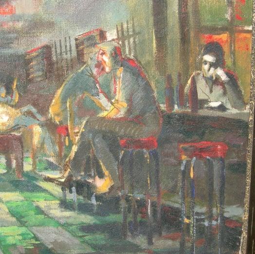Depression Era Pool Hall Painting 3