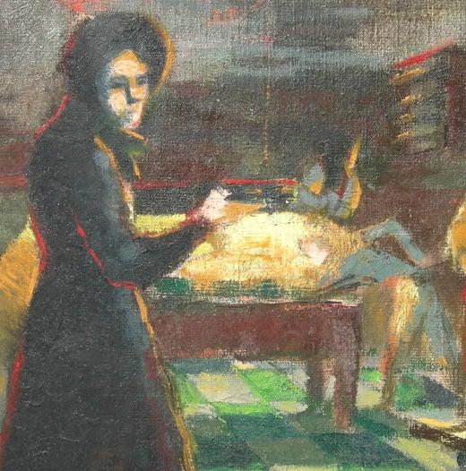 Depression Era Pool Hall Painting 4