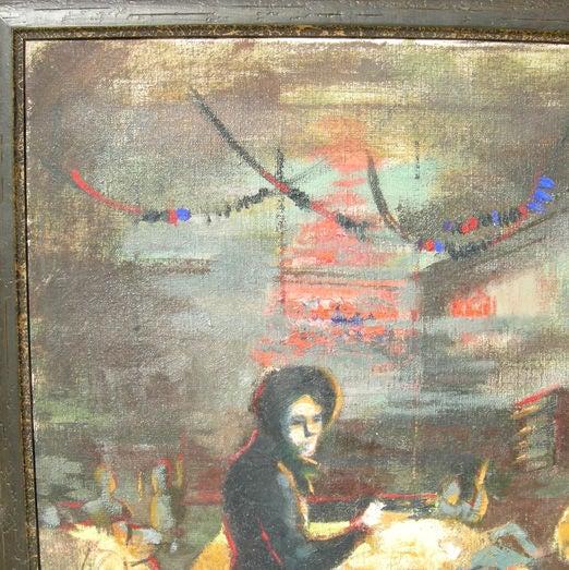 Depression Era Pool Hall Painting 5