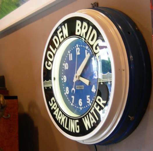 Quot Glo Dial Quot Neon Wall Clock At 1stdibs