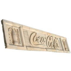 Coca Cola Bottling Plant Molded Concrete Sign