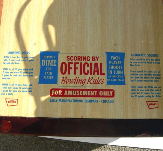 Mid-20th Century Bally ABC Bowling Lanes Arcade Game For Sale