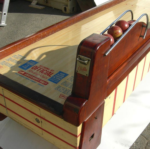 Wood Bally ABC Bowling Lanes Arcade Game For Sale