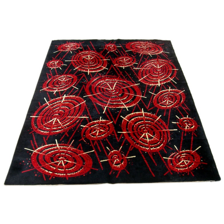 Atomic Patterned Rug At 1stdibs