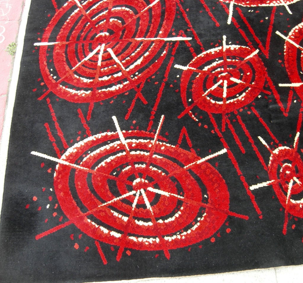 Atomic Patterned Rug At 1stdibs