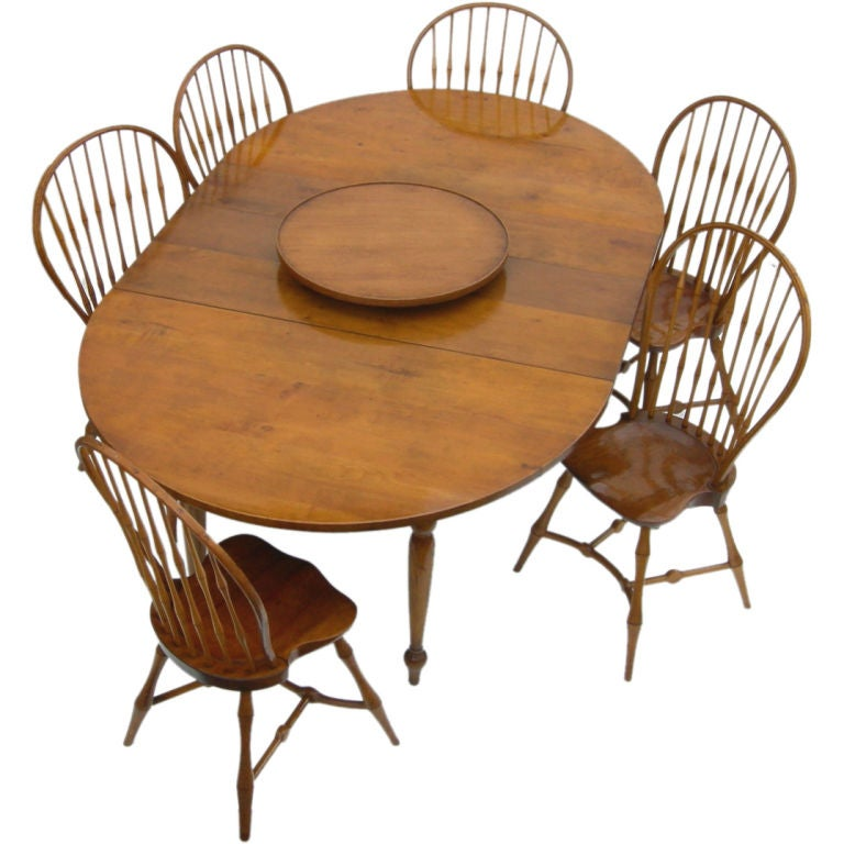 Windsor Style Dining Suite By Actor George Montgomery At 1stdibs