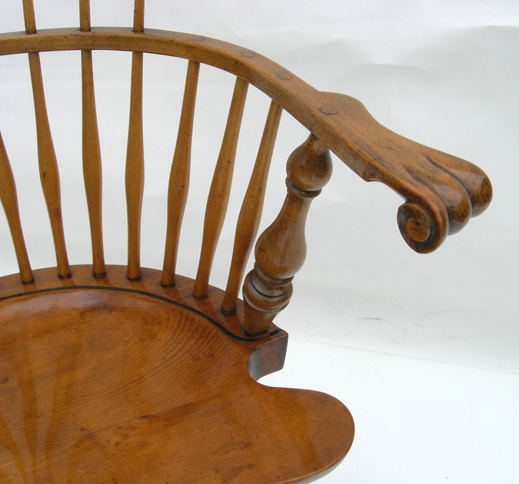 High Backed Windsor Chairs by Actor George Montgomery at 1stdibs