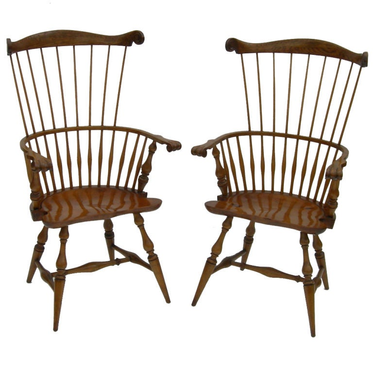 High Backed Windsor Chairs By Actor George Montgomery 1