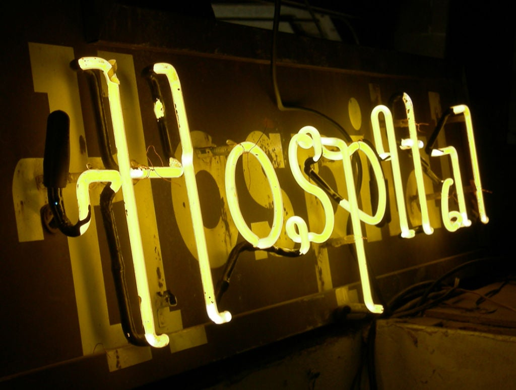Dog And Cat Hospital Neon Sign At 1stdibs