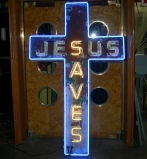 """Jesus Saves"" Neon Sign image 4"
