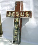 """Jesus Saves"" Neon Sign image 5"