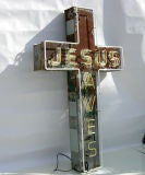 """Jesus Saves"" Neon Sign image 6"