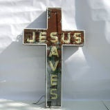 """Jesus Saves"" Neon Sign image 7"