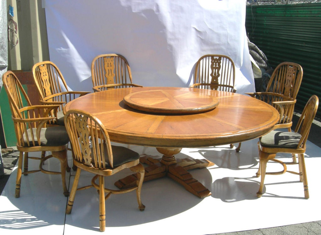 massive french pine dining table and chairs at 1stdibs