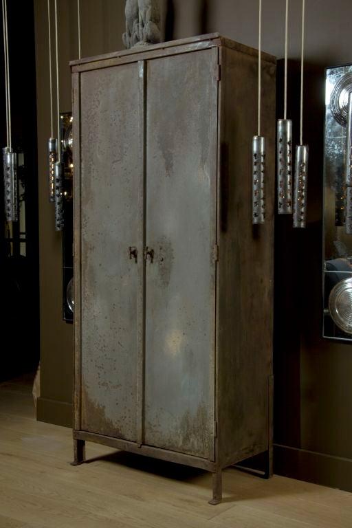 Belgian Industrial Belgium Two Door Cabinet