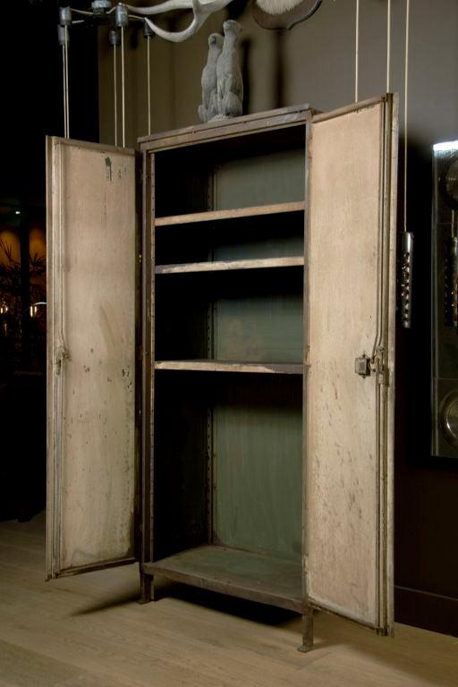 20th Century Industrial Belgium Two Door Cabinet