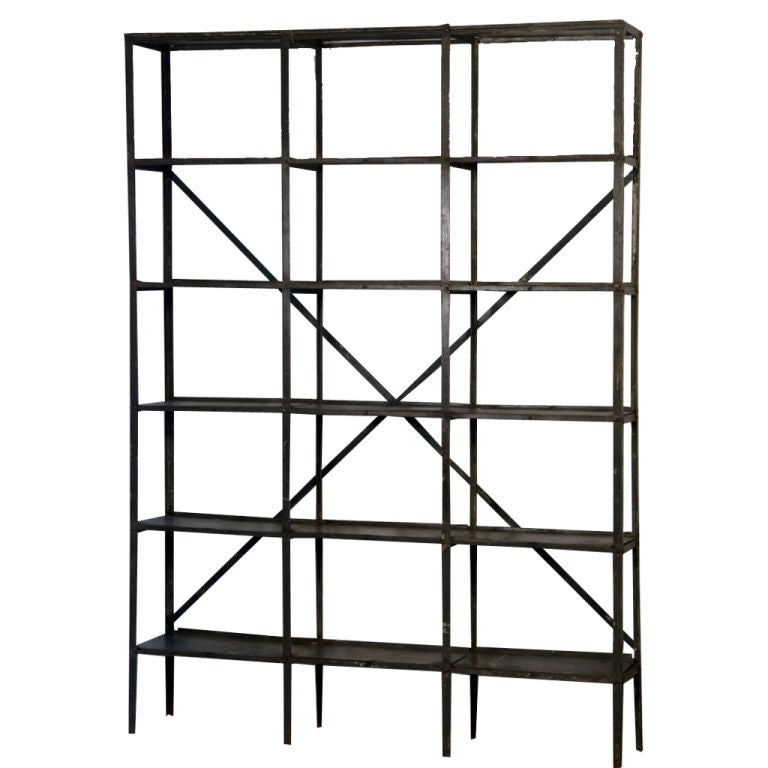 A Wall Industrial Book Rack At 1stdibs