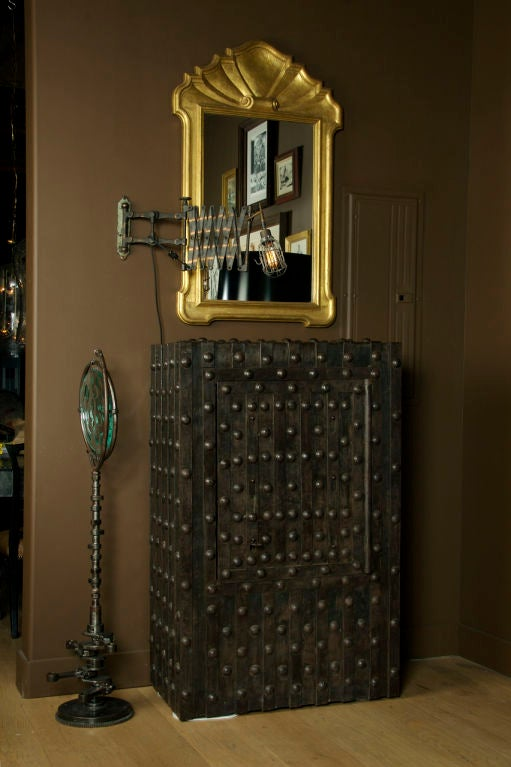 Massive Antique French Hobnail Safe image 2