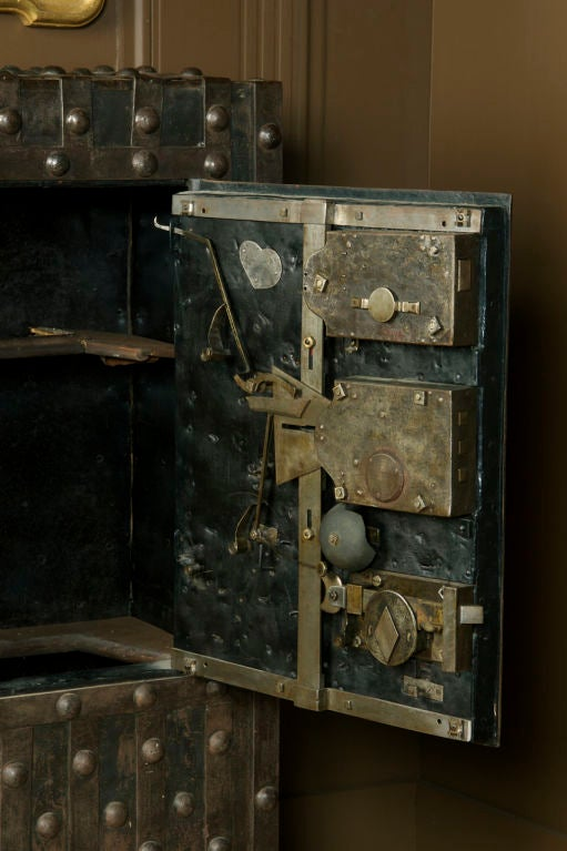 Massive Antique French Hobnail Safe image 4
