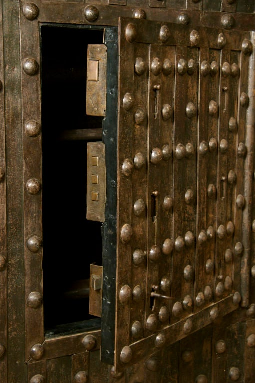 Massive Antique French Hobnail Safe image 8