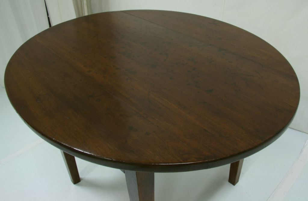 Mid 19th Century Cherry Oval Farm Table With Drawer at 1stdibs