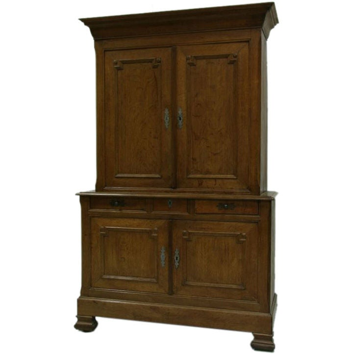 19th century louis philippe oak armoire at 1stdibs. Black Bedroom Furniture Sets. Home Design Ideas