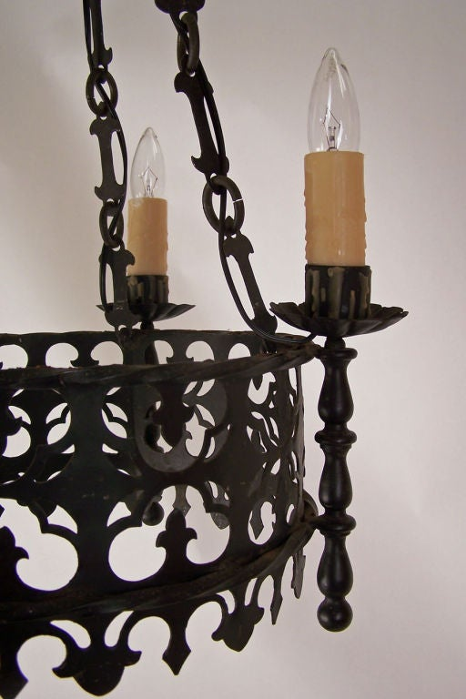 Spanish mediterranean style light fixture at 1stdibs for Mediterranean lighting fixtures