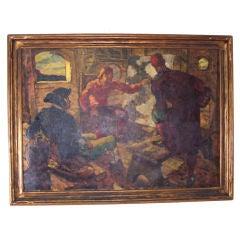 Large Brandywine School Style Painting