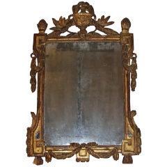 Louis XVI Gilt Mirror with Original Mirror Plate 18th Century