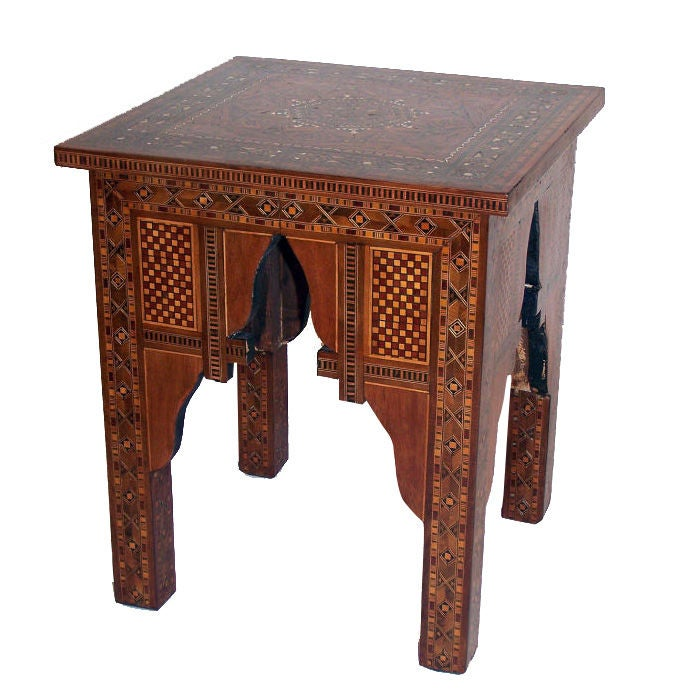 Moroccan Taboret Table 1