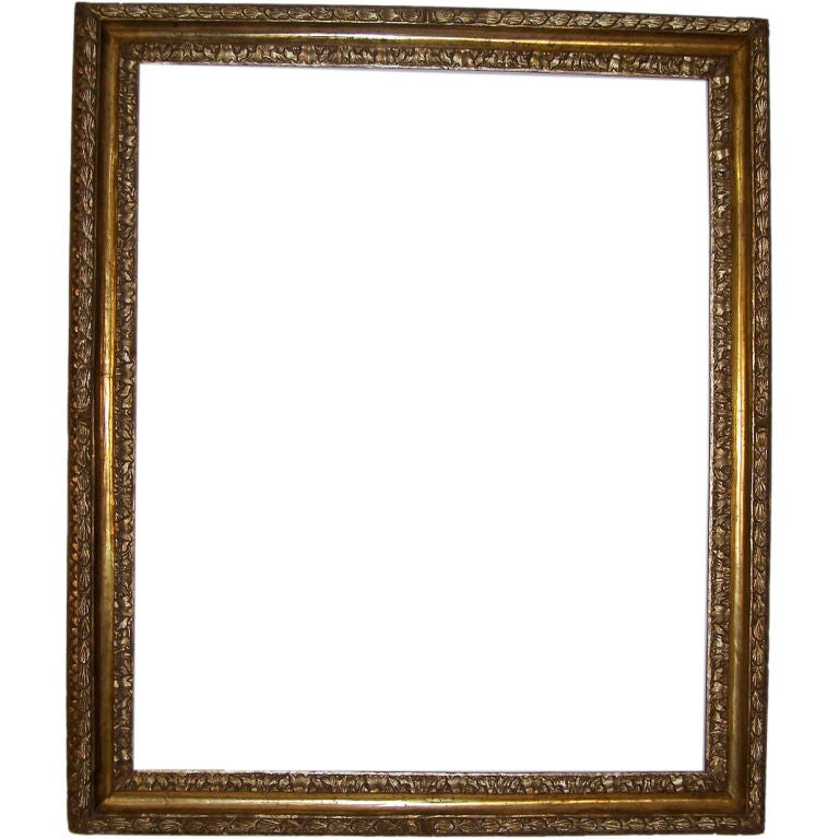 18th Century Spanish Colonial Frame Painted and Gilt For Sale at 1stdibs