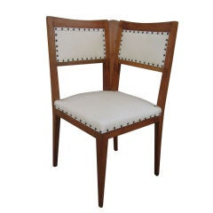 ITALIAN ART DECO CORNER CHAIRS