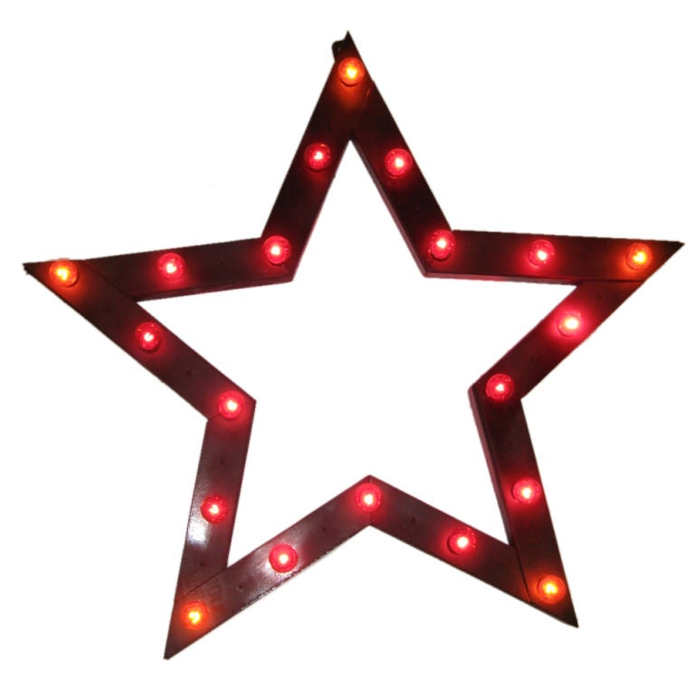 STAR WALL LIGHT at 1stdibs