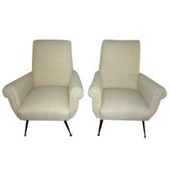 Pair of 50's Italian chairs