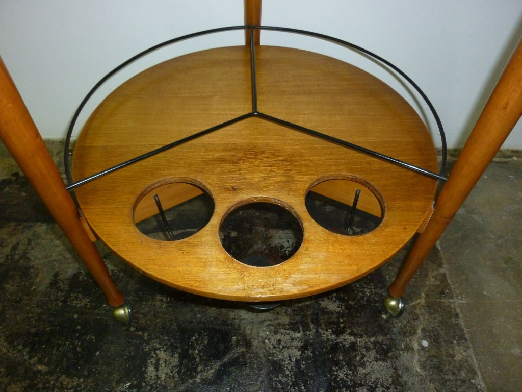 Fratelli Reguitti Italian Bar Cart In Excellent Condition For Sale In Los Angeles, CA