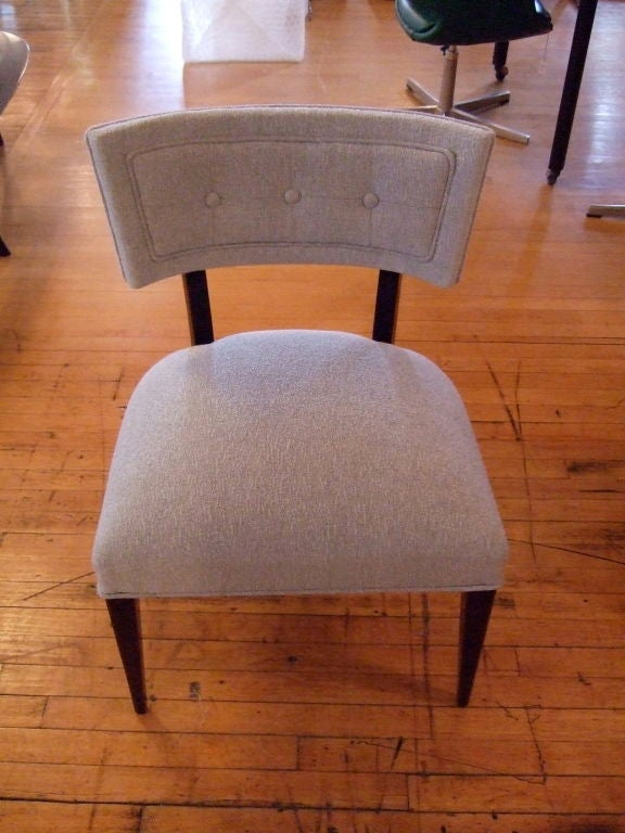 Pair of Midcentury Slipper Chairs For Sale 2