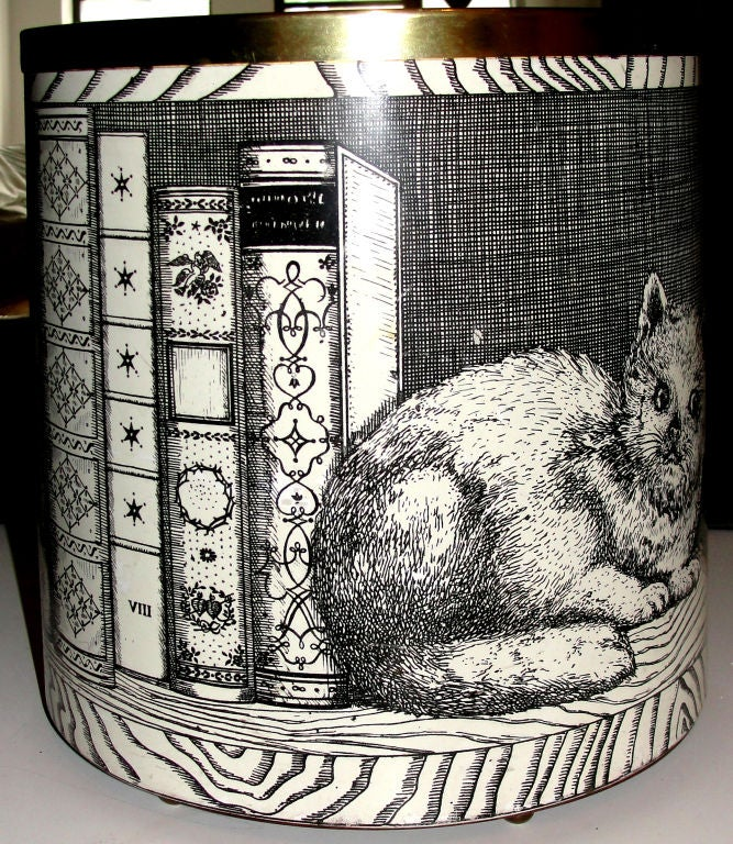 Fornasetti Cat And Mouse 1950 S Baket Planter Vase At