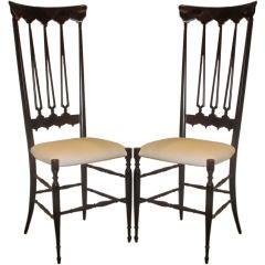 elongated and elegant Italian 50's Chiavari chairs