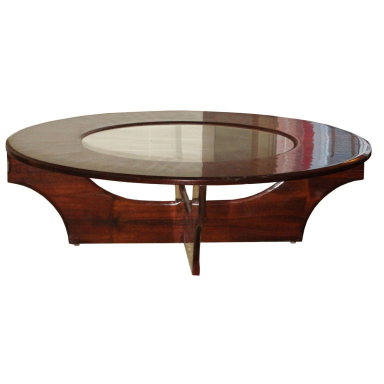 Sleek large rosewood and glass italian coffee table at 1stdibs Sleek coffee table